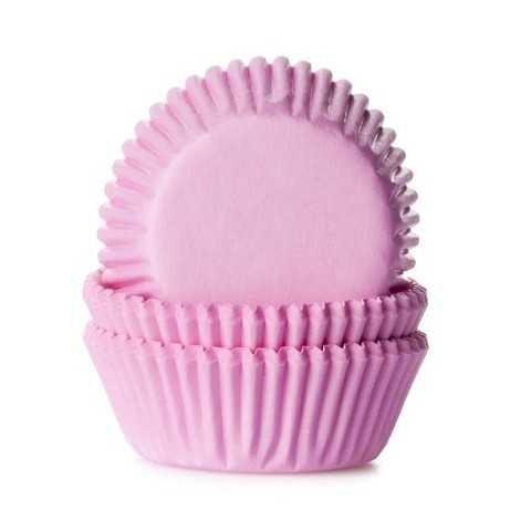 HoM - 60 mini caissettes cupcakes rose pastel