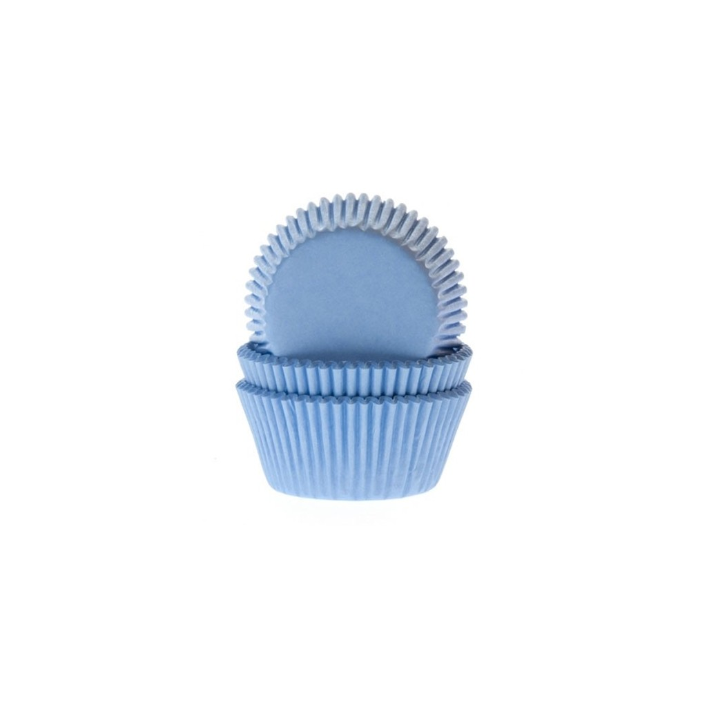 HoM - 60 mini caissettes cupcakes bleu clair