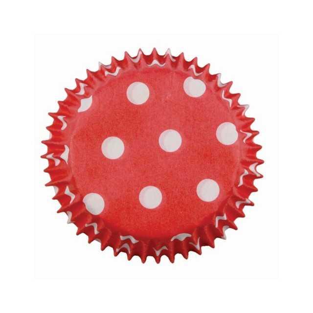 PME - 100 mini caissettes cupcakes rouge à pois