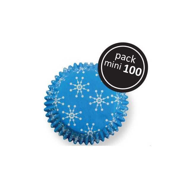PME - 100 mini caissettes cupcakes flocon de neige