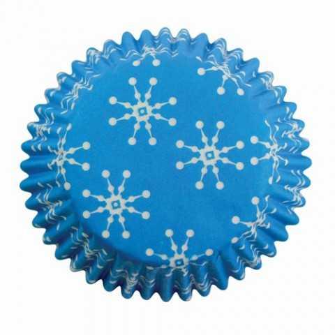 PME - 60 caissettes cupcakes flocon de neige