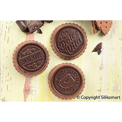 Silikomart - Kit biscuit tablette chocolat rond - Dolce Vita