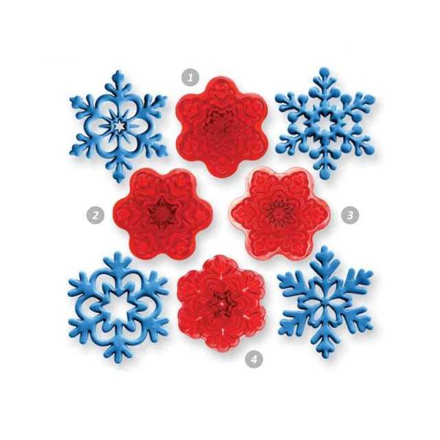 JEM - 4 emporte-pièces flocon de neige - Ø4 cm