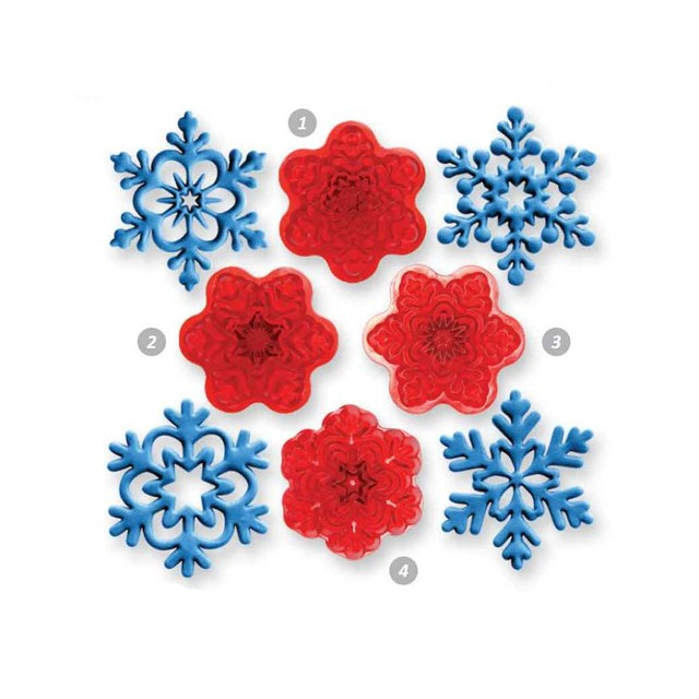 JEM - 4 emporte-pièce flocon de neige - Ø4 cm