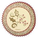 Wilton - 75 caissettes cupcakes houx doré et rouge