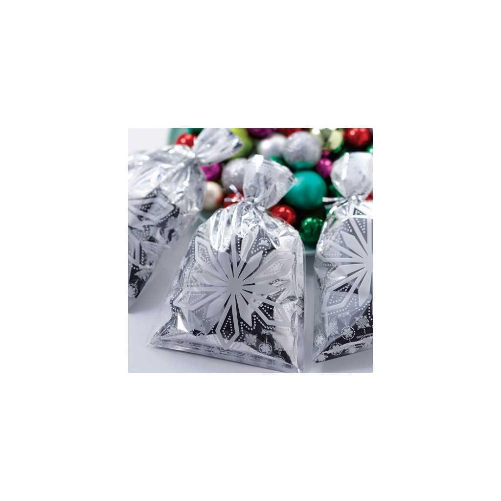 Wilton - 8 sachets flocons en papier métallisé 23 x 15 cm