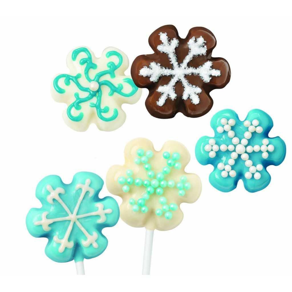 Wilton - Moule silicone mini flocons de neige - 24 cavités