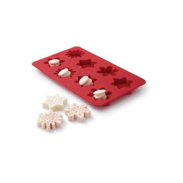 Wilton - Moule à bonbon flocons de neige - 8 cavités