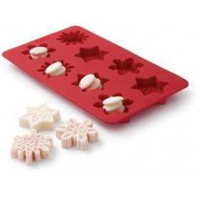 Wilton - Moule silicone flocons de neige - 8 cavités