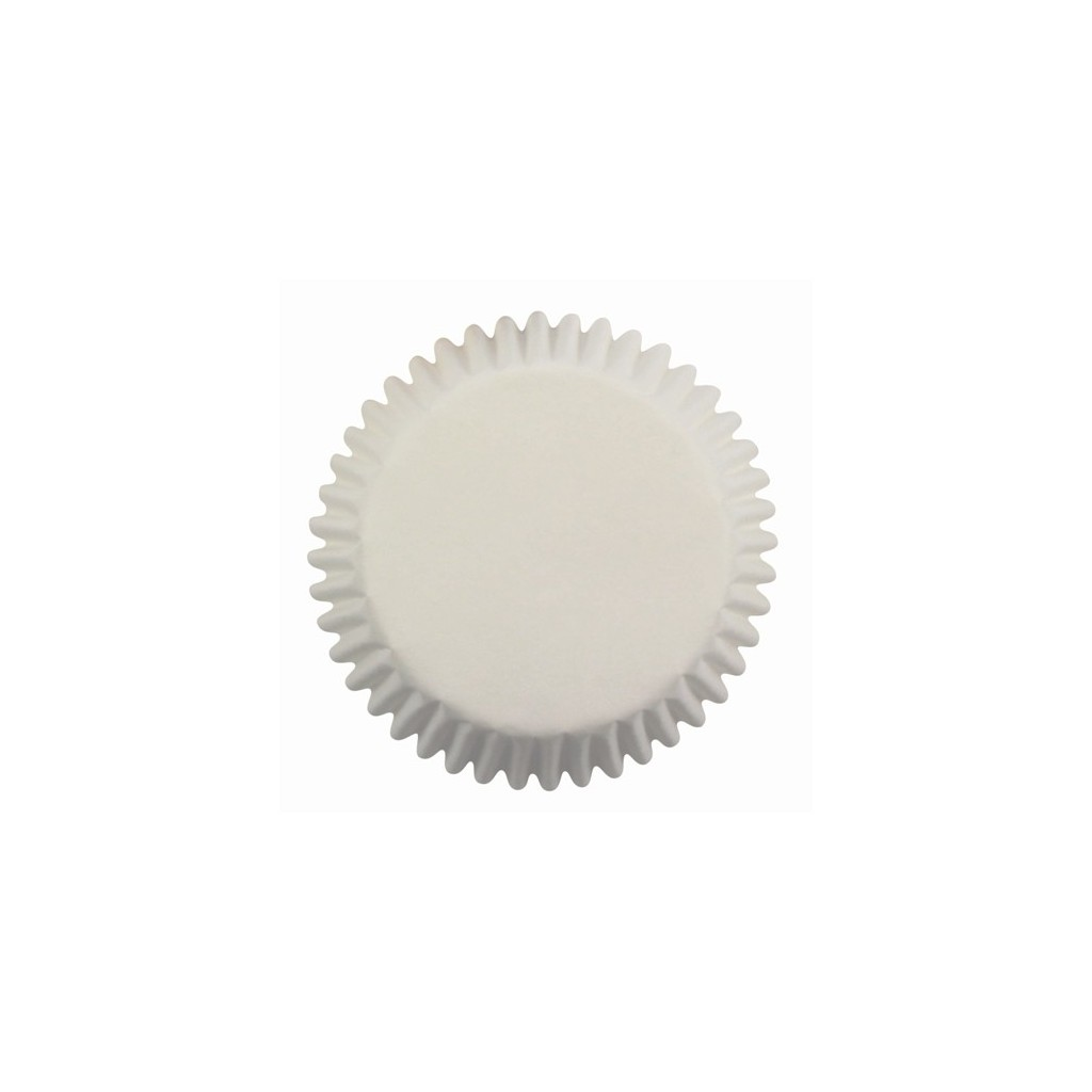 60 Caissettes cupcakes blanches