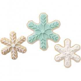 Wilton - 3 emporte-pièces flocon de neige