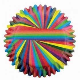 60 caissettes rayures couleurs