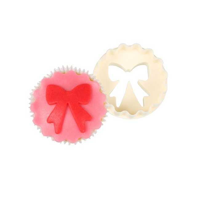 Emporte pièce cupcake 2 faces nœud/disque FMM