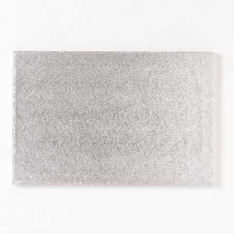 Présentoir à gateau rectangulaire argent 40 x 30 cm