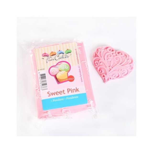 Pate à sucre rose Funcakes 250 gr