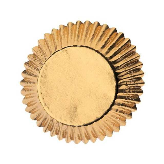 Wilton - 24 caissettes cupcakes muffins dorées