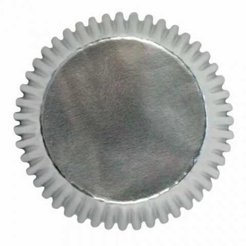 Wilton - 24 caissettes cupcakes muffins argentées