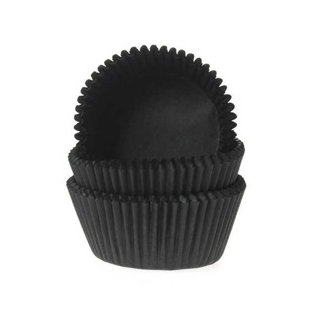 HoM - 50 caissettes cupcakes ou muffins noir