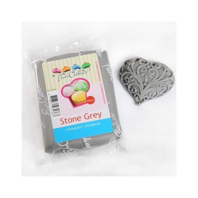 Pate à sucre gris Funcakes 250 gr