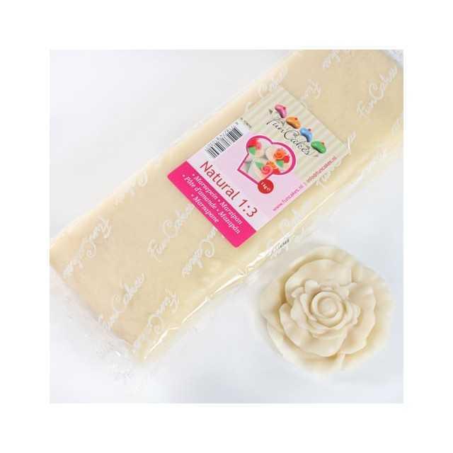 Pate d'amande blanc écru 1:3 Funcakes 1 kg