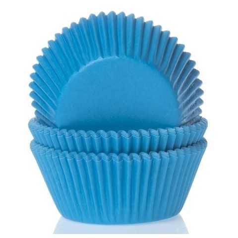 HoM - 50 caissettes cupcakes bleu cyan