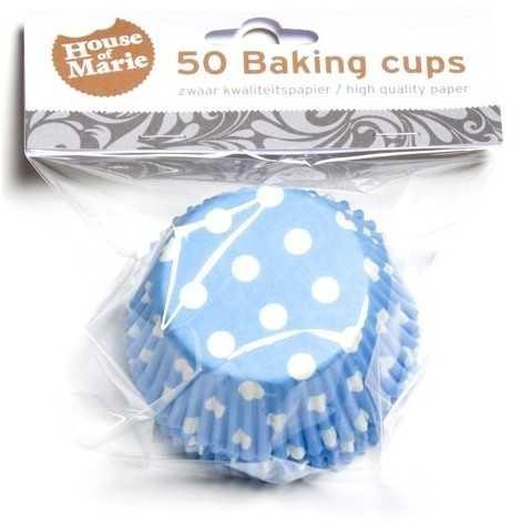 HoM - 50 caissettes cupcakes à pois bleu turquoise