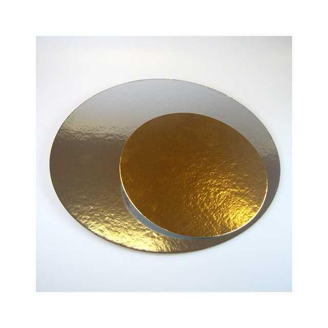 3 Présentoirs à gateau ronds doré/argenté 20 cm