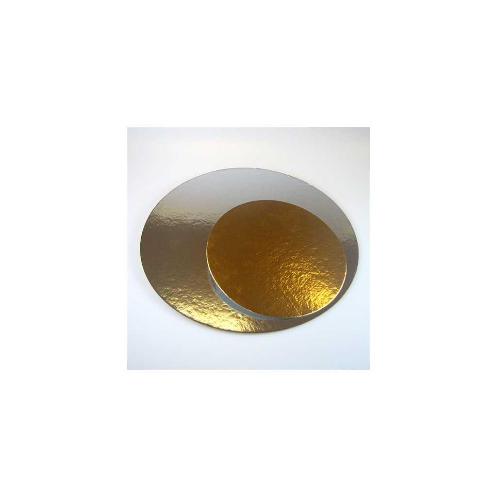 3 Présentoirs à gateau ronds doré/argenté 30 cm