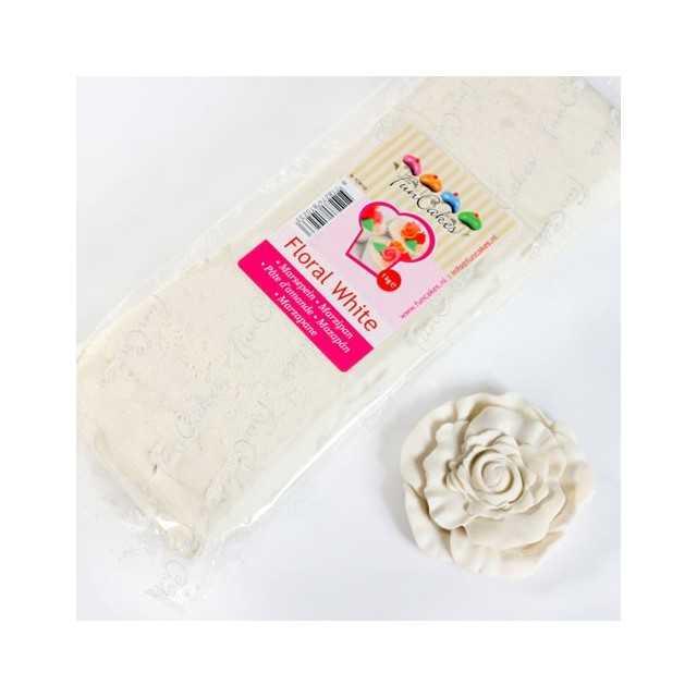 Pate d'amande blanche floral Funcakes 1 kg