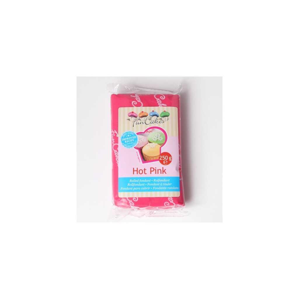 Pate à sucre rose fuchsia Funcakes 250 gr