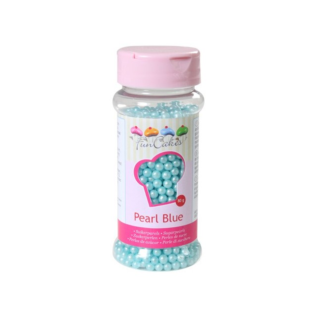 Perles de sucre bleu clair - 80 gr