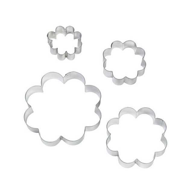 Wilton - 4 emporte-pièces fleurs métal