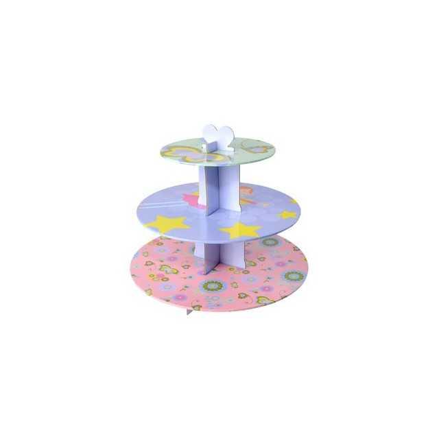 Présentoir à cupcakes fée