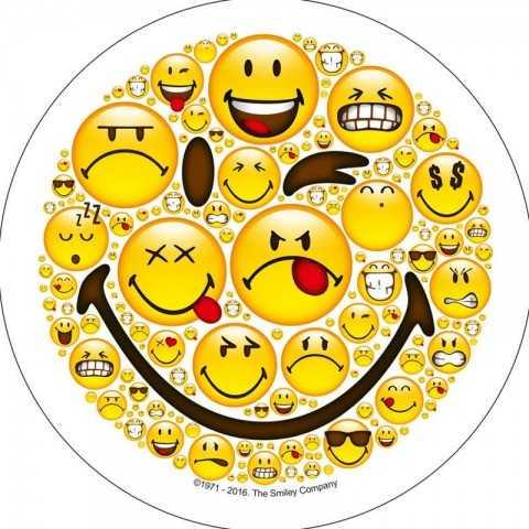 Disque pour gateau smiley