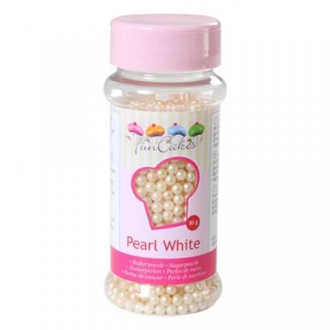 Perles de sucre blanc cassé perle naturelle Funcakes 80 gr