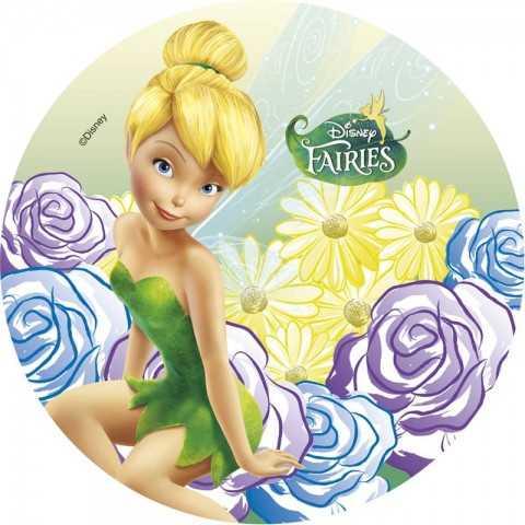 Disque azyme Fée Clochette & fleurs