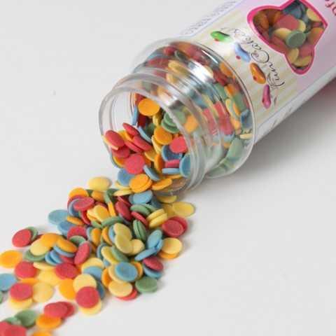 Confetti sucre multicolores Ø6 mm
