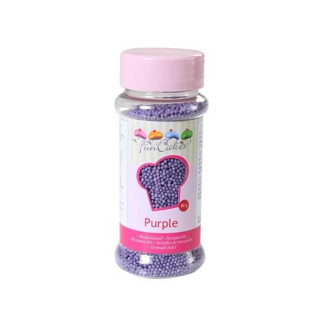 Microbilles de sucre violet Funcakes 80 gr