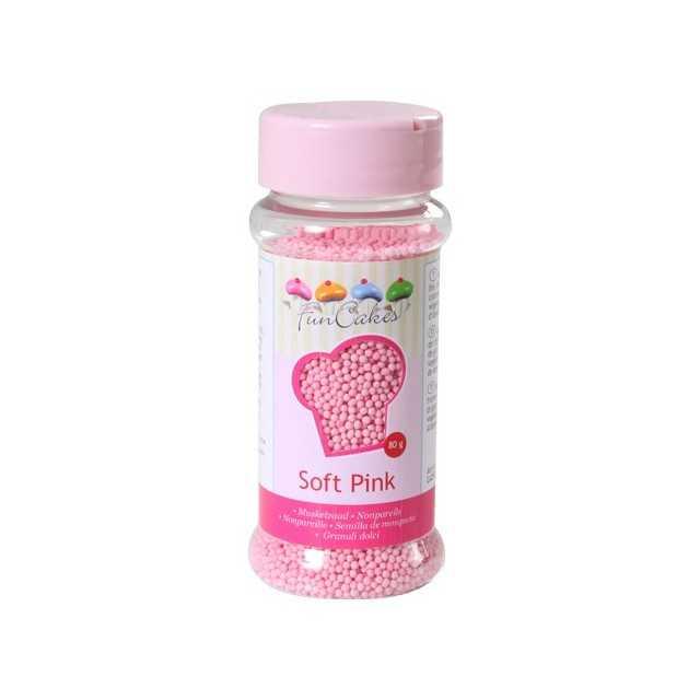 Microbilles de sucre rose Funcakes 80 gr