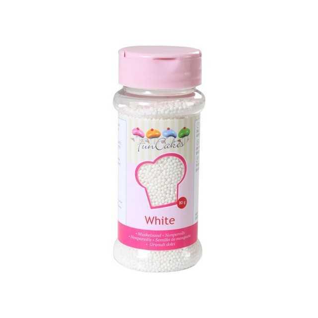 Microbilles de sucre blanc Funcakes 80 gr