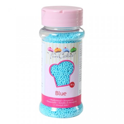 Microbilles de sucre bleu Funcakes 80 gr