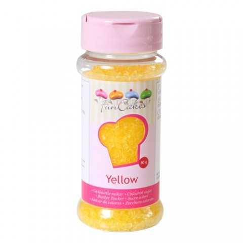 Sucre coloré jaune Funcakes 80 gr