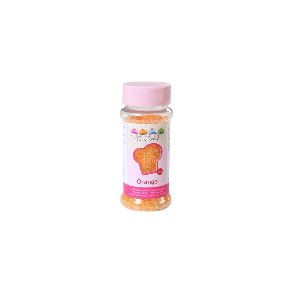 Sucre coloré orange Funcakes 80 gr