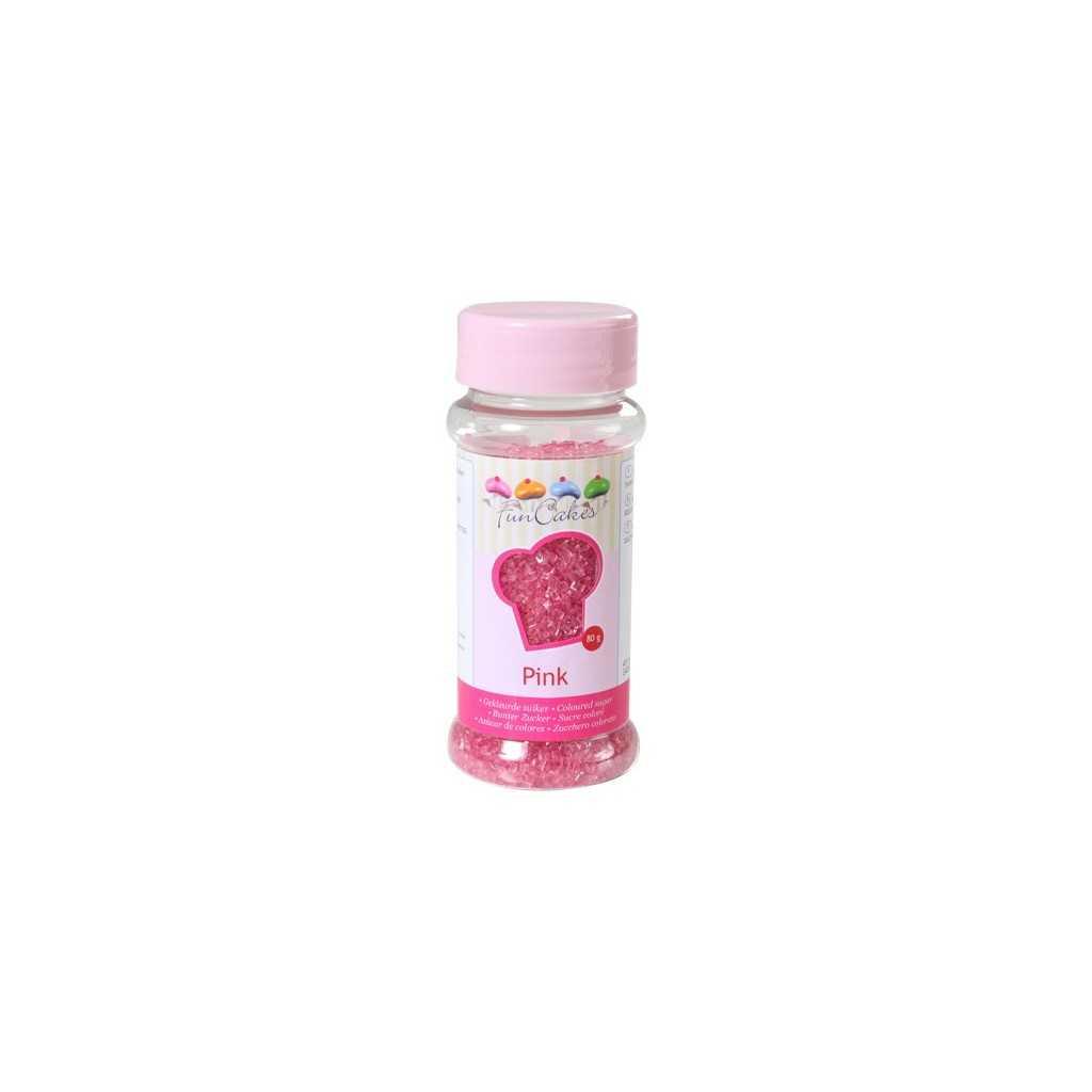 Sucre coloré rose Funcakes 80 gr