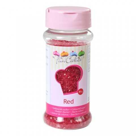 Sucre coloré rouge Funcakes 80 gr