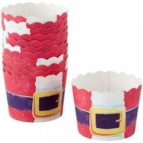 Caissettes cupcake Pere Noël rouge