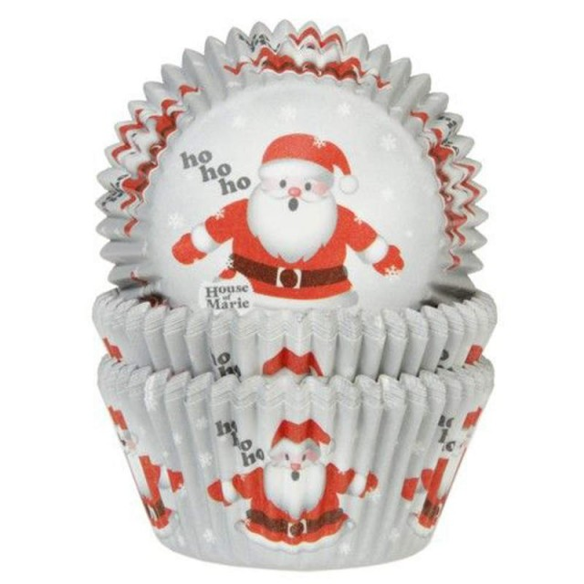 Caissettes cupcake Pere Noël rouge