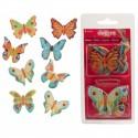 Papillons comestibles pour décoration de gâteaux