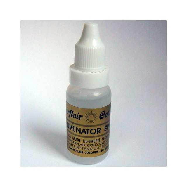 Sugarflair Rejuvenator Spirit   Alcool pour base peinture colorant poudre   14ml.