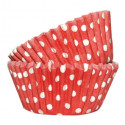 36 Caissettes Cupcake Pois rouge Squires Kitchen